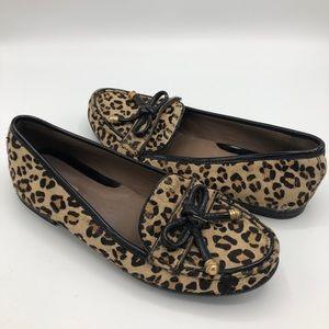 Geox Leopard Cheetah Loafer Flats 38.5 Animal